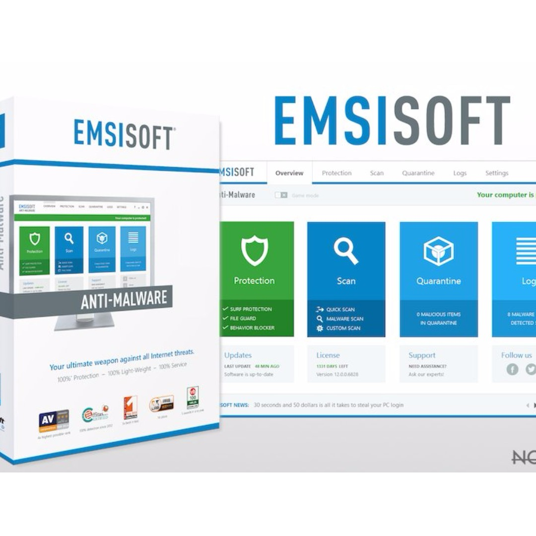 Emsisoft Anti Malware License code for 1 year 50% off