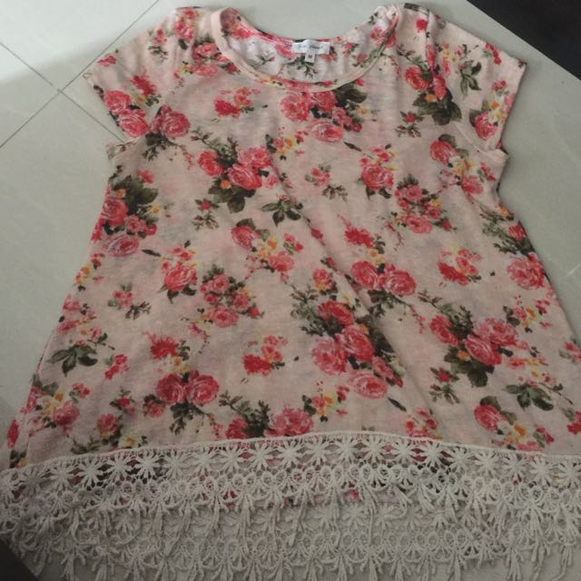 Floral Blouse Fits Small To Medium  P50.00