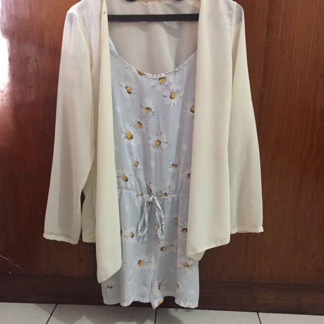 Flower jumpsuit with inner