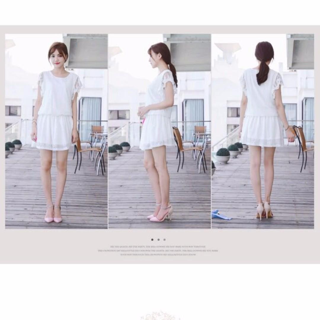 *FREE NM * - BN - MAYUKI - Sweet Pretty Lace Waisted Dress White - Toki Choi (NT Mango, Zara)