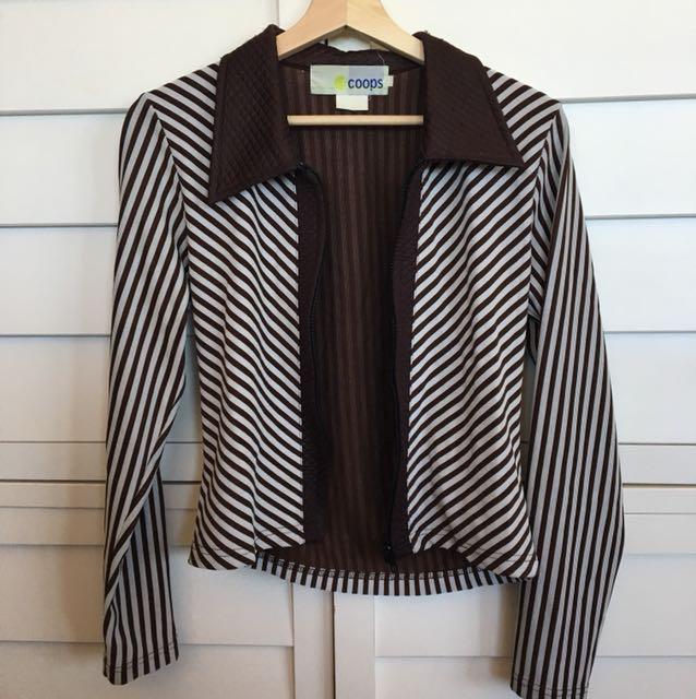 Funky stripey jacket
