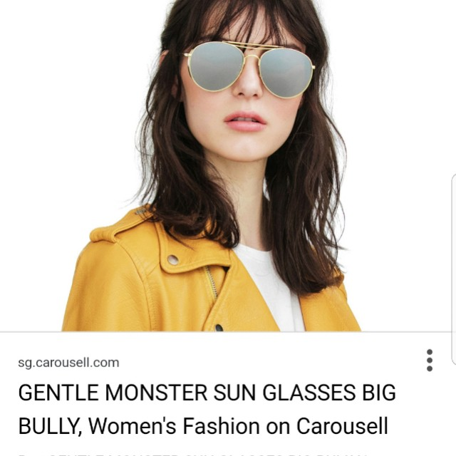 52626515216f Gentle monster big bully sunglasses in gold brand new