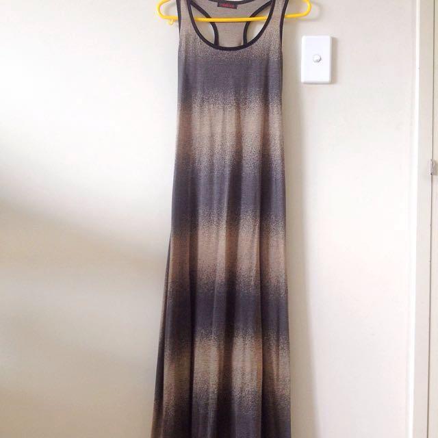 Gradient Sand Thin Maxi Dress