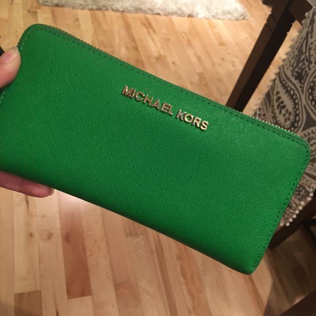 Green MK wallet