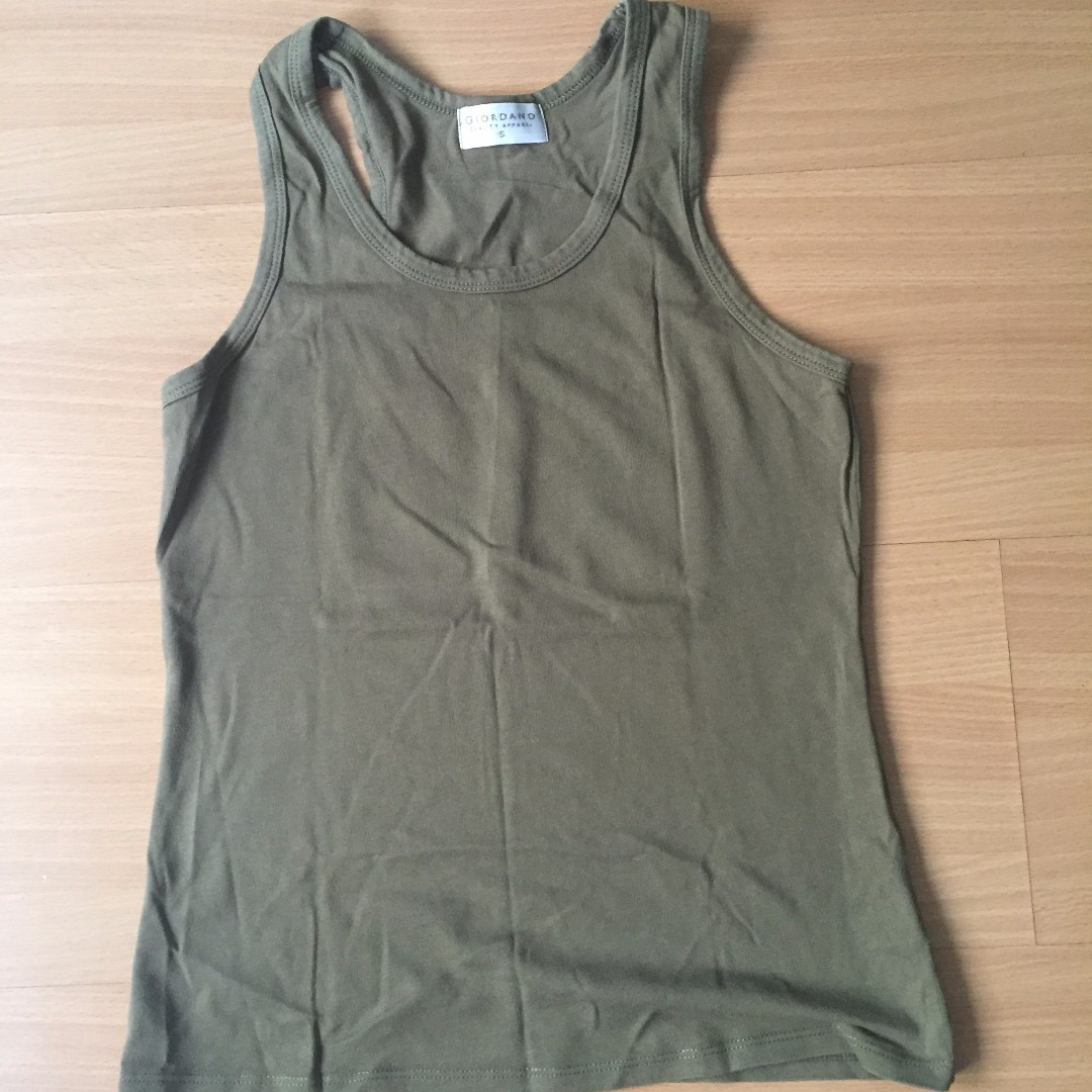 Green Sleeveless Top by Giordano for Women (Authentic)