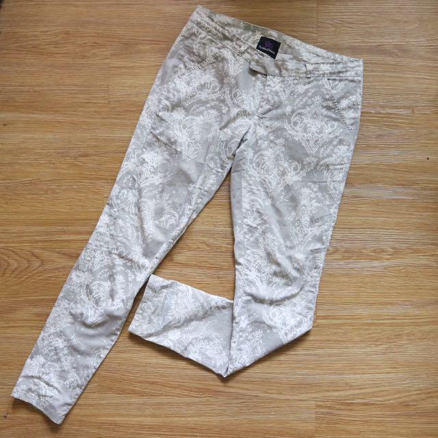 Grey Printed Pants