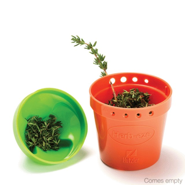 Herb-Eze(TM) Herb Stripper And Freezer Storage Container