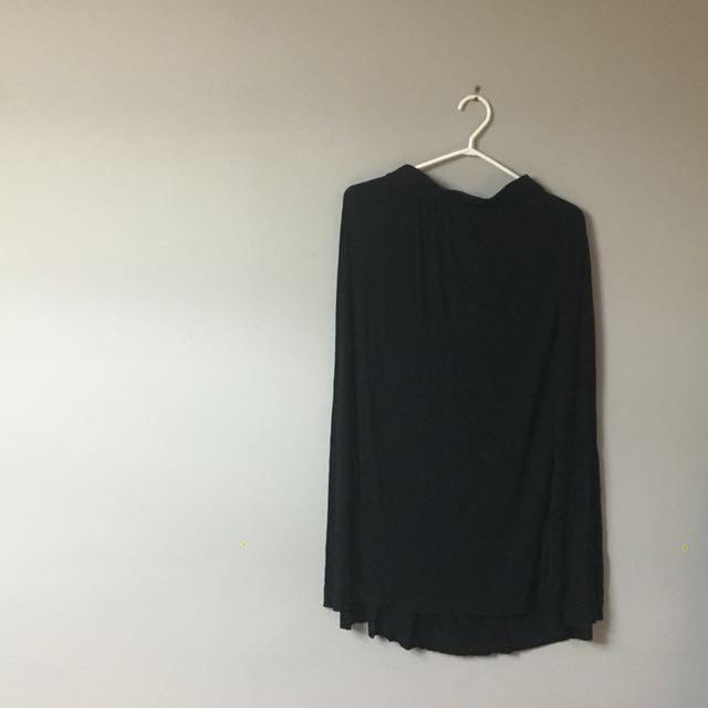 High-Waisted Flowy Maxi Skirt