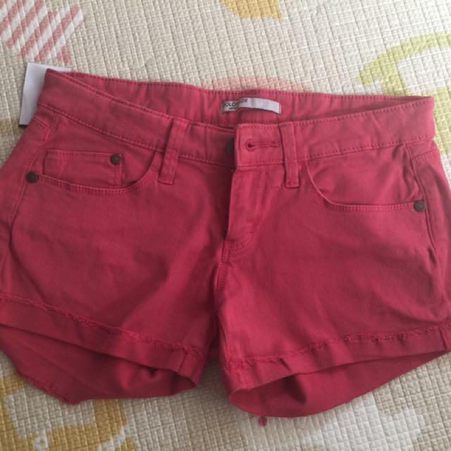 Hotpants colourbox jeans pink