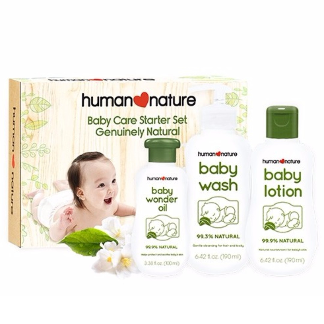 Human Nature Powder Scent Baby Care Christmas Gift Set