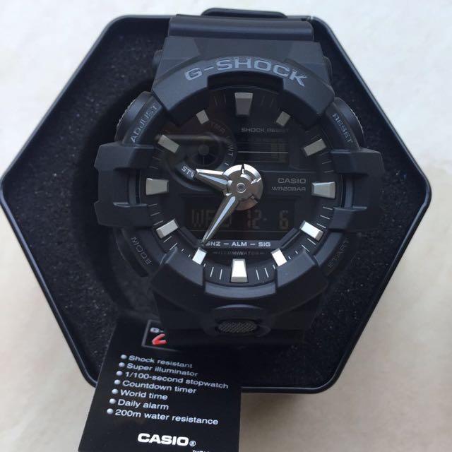 Jam Tangan Casio G-SHOCK tipe GA-700-1BDR (original), warna hitam