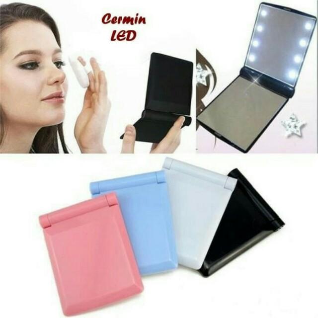 Kaca LED lipat / Kaca Rias / Kaca Makeup / Cermin LED