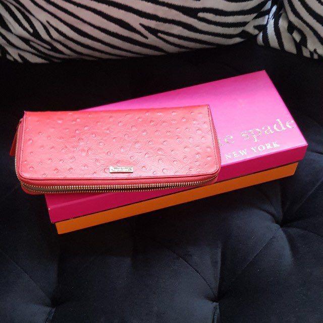 Kate Spade ostrich long wallet