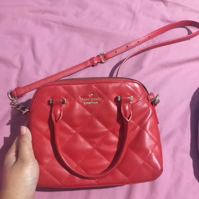Kate spade red sling bag