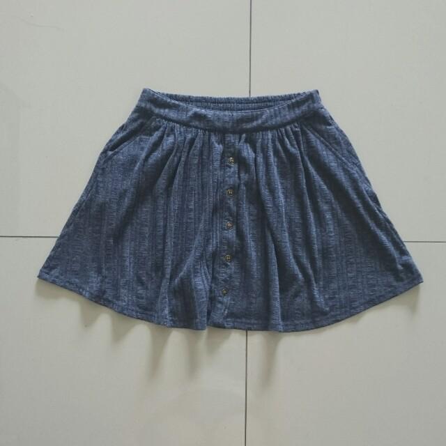 Kitschen Button Down Skater Skirt - Pockets