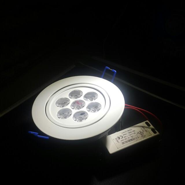 Led鑲嵌投射燈7w