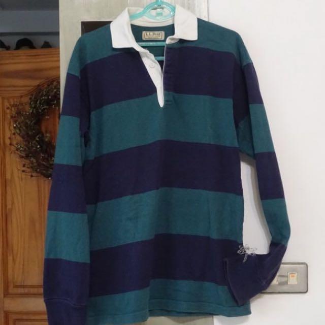 L.L.Been美國品牌 古著 條紋長袖