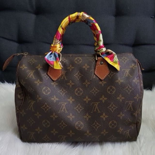 Louis Vuitton Speedy 30 Authentic with FREE Twilly