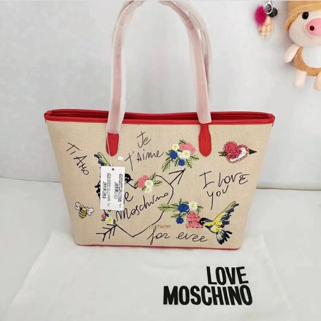 Love Moschino Canvass Tote Bag