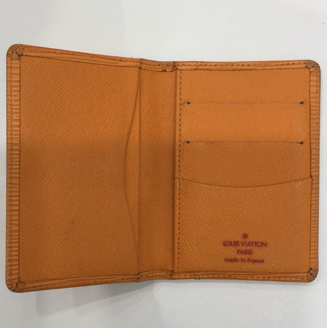 1a4d3f6c1d7d LV Epi pocket organizer Card Holder Mandarin Orange