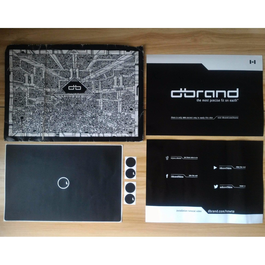 Matte black dbrand skin for Dell XPS 15 (9560)
