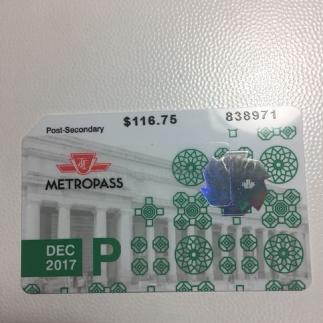 Metropass for Post-Secondary