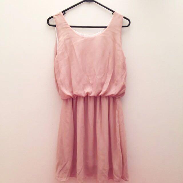 NEW Peach Flare Dress
