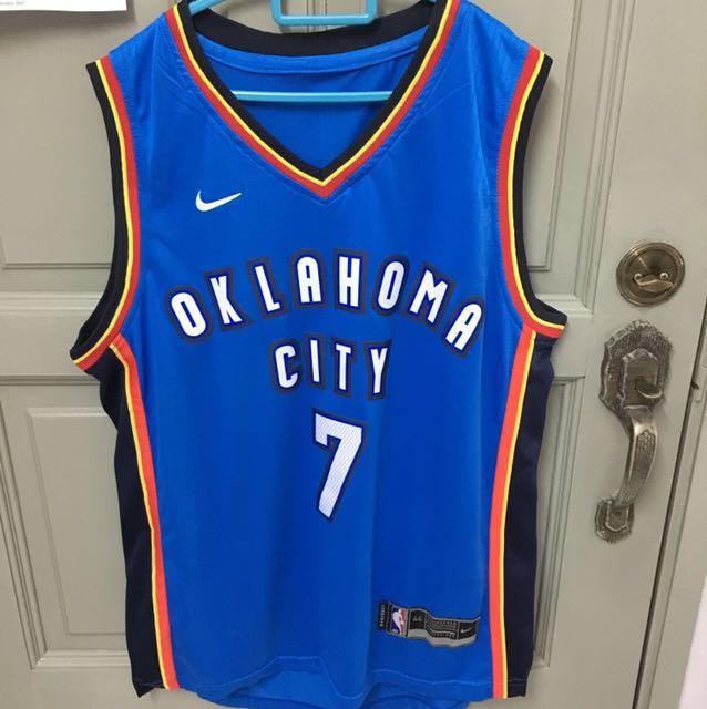 Oklahoma Thunder Carmelo Anthony Nike Nba Basketball Jersey