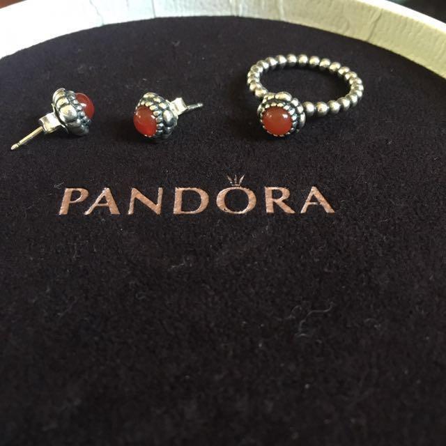 Pandora birthstone (July) ring *EARRINGS SOLD*