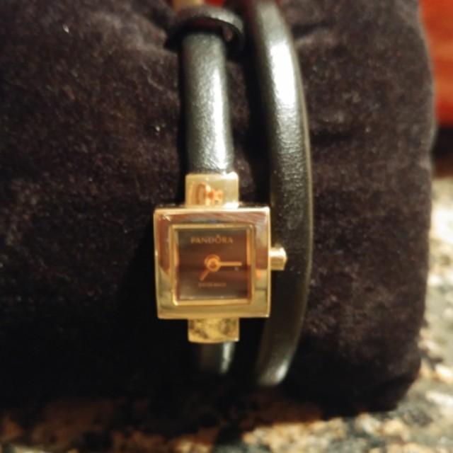 Pandora Black and Gold Bracelet/Watch