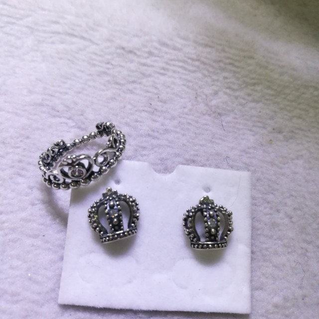 Pandora earrings and ring!