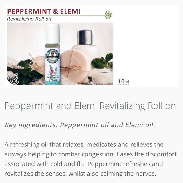 Peppermint & Elemi Roll on 10ml