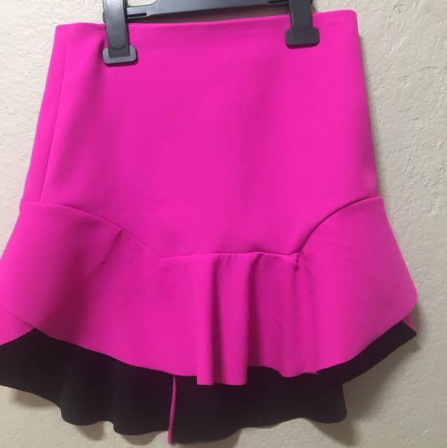 Pink Bardot skirt