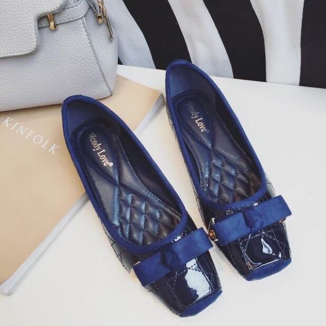 Quilted Ribbon Comfort Flats