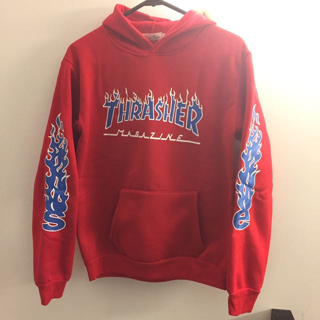 Rep Supreme Thrasher Red Hoodie 30e7a70f87