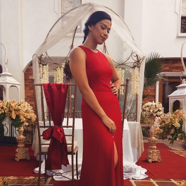 Repriced Red Wine Bridesmaid Gown/Dress