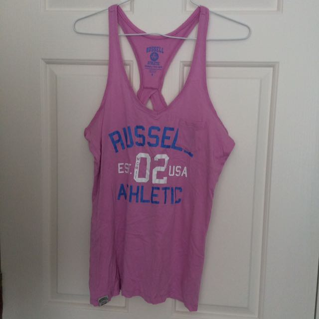 Russell athletics singlet size S