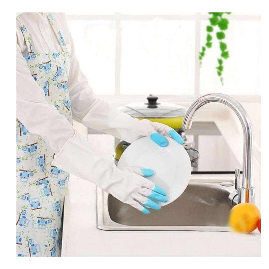 Sarung tangan karet cuci piring anti air Rubber glove murah - HPR088, Kitchen & Appliances on Carousell