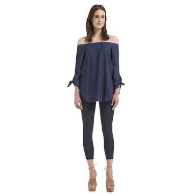 Seed # Denim offshoulder top