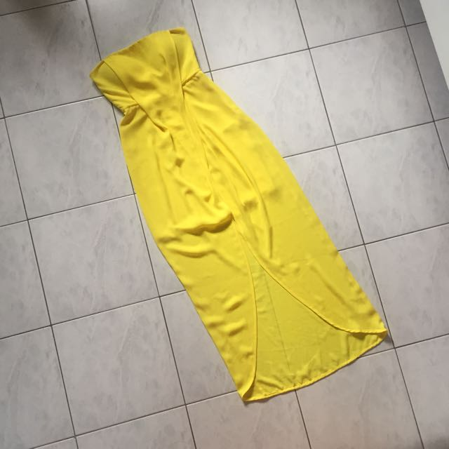 Sheike Yellow Hi-Lo Maxi Dress
