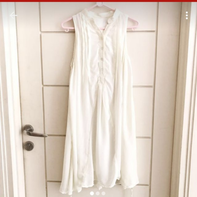 Sifon white mini dress