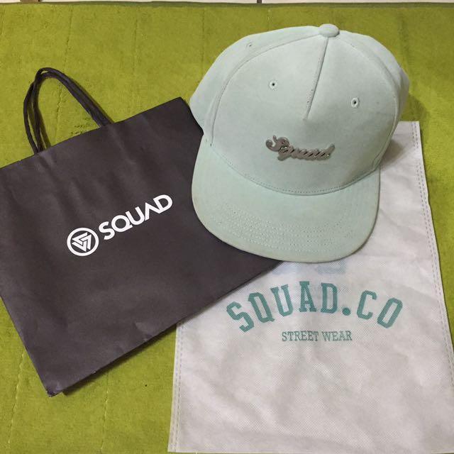 SQUAD綠色絨布棒球帽