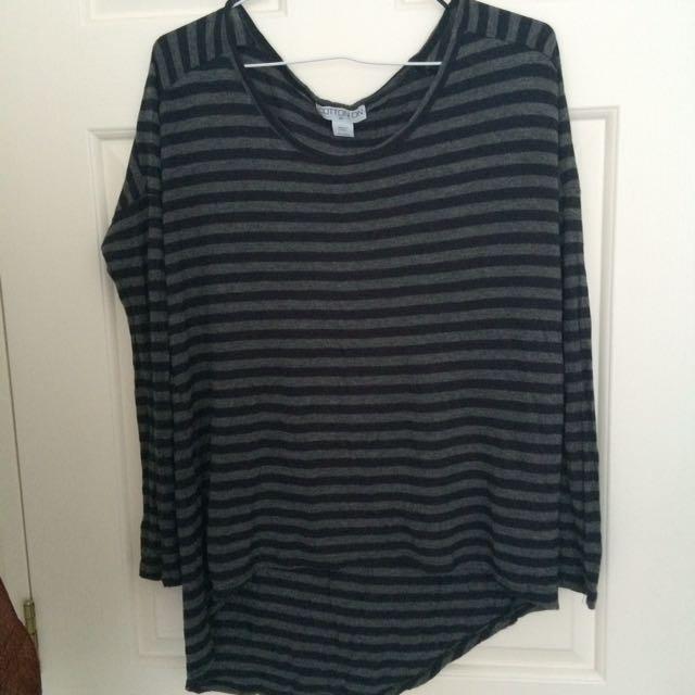 Stripe long sleeve top size XS