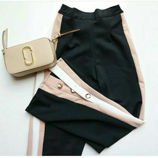 Stripe pants 3 button