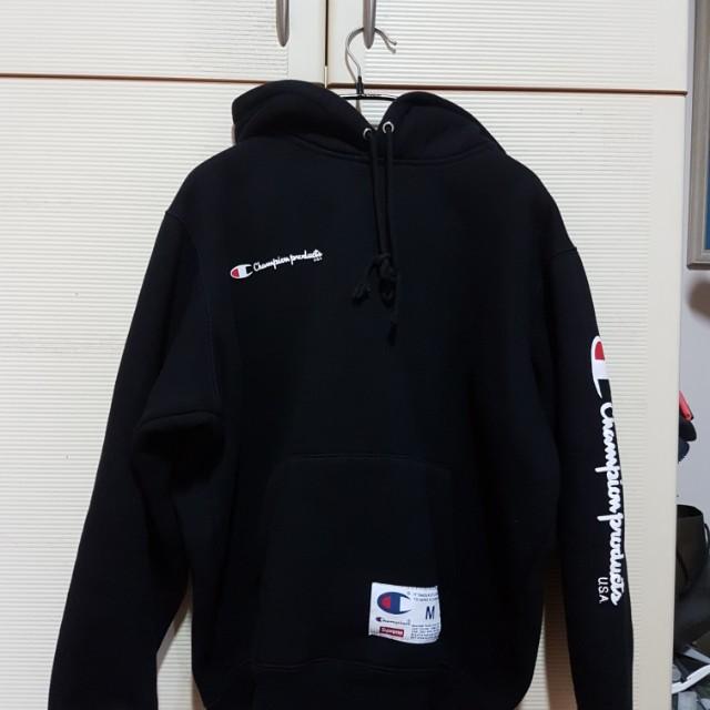 supreme x champion fw16 hoodie