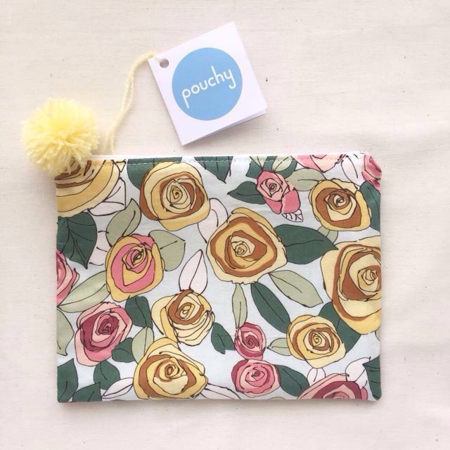 The Sun and Her Garden pouch by Pouchy
