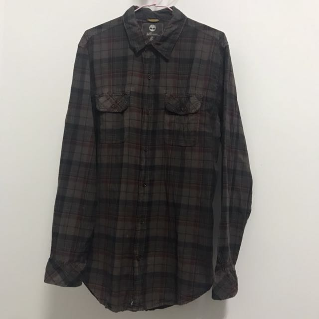 Timberland 格紋長袖襯衫
