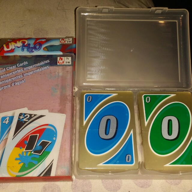 Uno h2o cards water proof