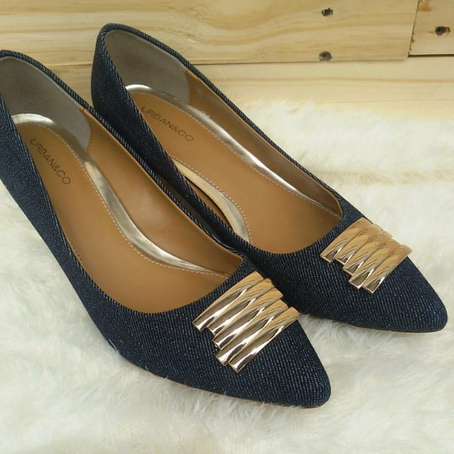 URBAN N CO Denim Pointed Heels