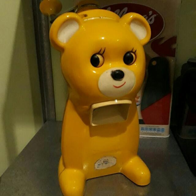 """vintage """"Bear"""" nostalgic ice shaver made in japan"""